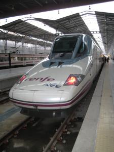 Ave fast speed train